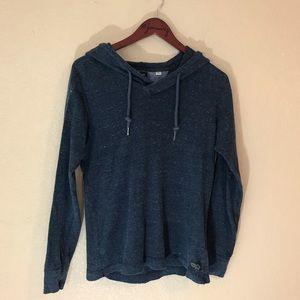 Gray diesel brand hooded popover sweatshirt  cool